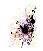 Коврик для мыши 2 rabbit in flowers