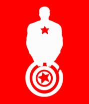 Мужская футболка с длинным рукавом Captain America