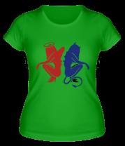 Женская футболка  Angel-devil