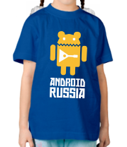 Детская футболка  Android Russia