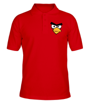 Футболка поло мужская Angry Birds Red Face