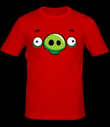 Мужская футболка  Angry Birds Pig Face