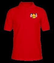 Футболка поло мужская Angry Birds Matilda Face