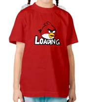 Детская футболка  Angry Birds Loading