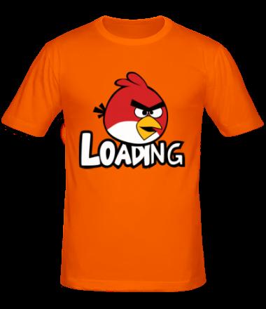 Мужская футболка  Angry Birds Loading