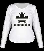 Женская футболка с длинным рукавом Canada