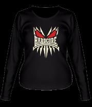 Женская футболка с длинным рукавом Skeleton Hardcore