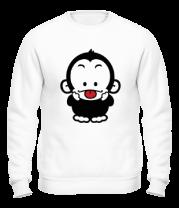 Толстовка без капюшона Веселая обезьянка