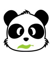 Мужская футболка  Веселая панда