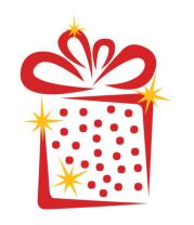 Толстовка без капюшона Новогодний подарок