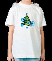Детская футболка  Новгодняя ёлка