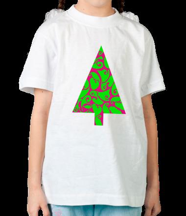 Детская футболка  Елочка в узорах