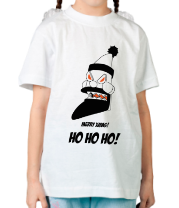 Детская футболка  Злобный механический Санта
