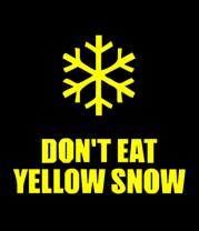 Детская футболка  Не ешьте жёлый снег
