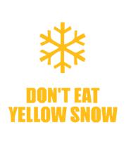Кружка Не ешьте жёлый снег