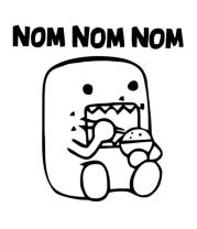 Женская футболка с длинным рукавом Nom Nom Nom