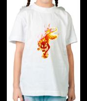 Детская футболка  Тигр в огне
