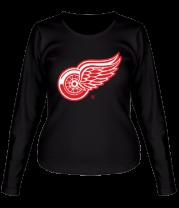 Женская футболка с длинным рукавом Detroit Red Wings