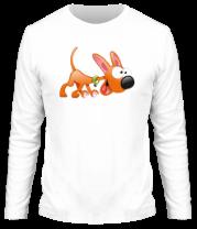 Мужская футболка с длинным рукавом Cartoon dog