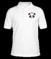 Футболка поло мужская Панда парная для нее