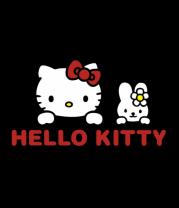 Футболка поло мужская Hello kitty