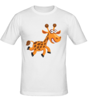 Мужская футболка  Жираф smile