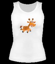 Женская майка борцовка Жираф smile