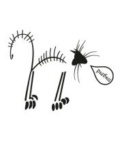 Толстовка без капюшона Кошачий скелет