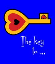 Мужская футболка с длинным рукавом Ключ от сердца