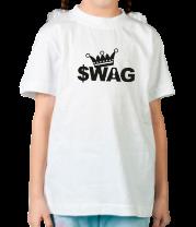 Детская футболка  SWAG