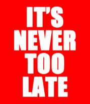Мужская футболка с длинным рукавом It's never too late