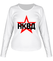 Женская футболка с длинным рукавом НКВД