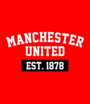 Футболка поло мужская FC Manchester United Est. 1878