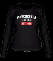 Женская футболка с длинным рукавом FC Manchester United Est. 1878