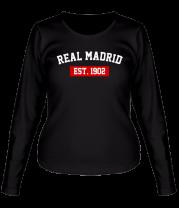 Женская футболка с длинным рукавом FC Real Madrid Est. 1902