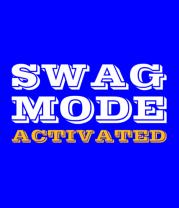 Футболка поло мужская Swag Mode Activated