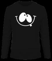 Мужская футболка с длинным рукавом Улыбка