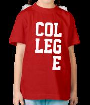 Детская футболка  College Lines