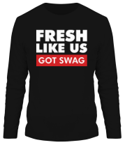 Мужская футболка с длинным рукавом Fresh like US