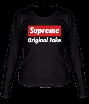Женская футболка с длинным рукавом Supreme Original Fake
