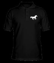 Футболка поло мужская Лошадь