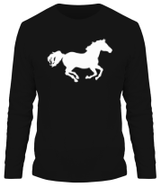 Мужская футболка с длинным рукавом Лошадь