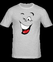 Мужская футболка  Смайл подмигивает