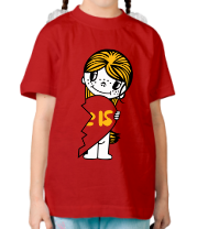 Детская футболка  Парная love is девочка