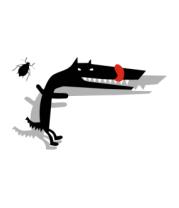 Детская футболка  Собака и жук