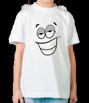 Детская футболка  Балдевший смайлик