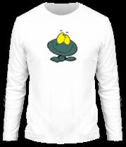 Мужская футболка с длинным рукавом Веселая лягушка
