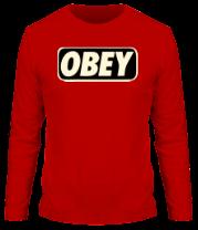 Мужская футболка с длинным рукавом obey glow