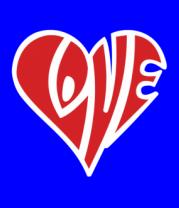Детская футболка  Love сердце