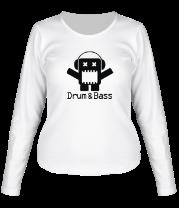 Женская футболка с длинным рукавом Drum & Bass
